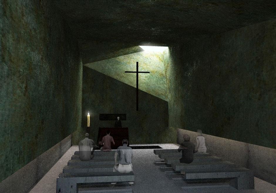 Vista della cappella di giorno