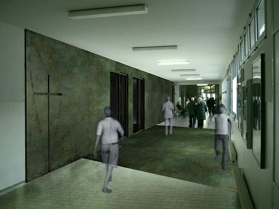 Il corridoio d\'accesso alla cappella