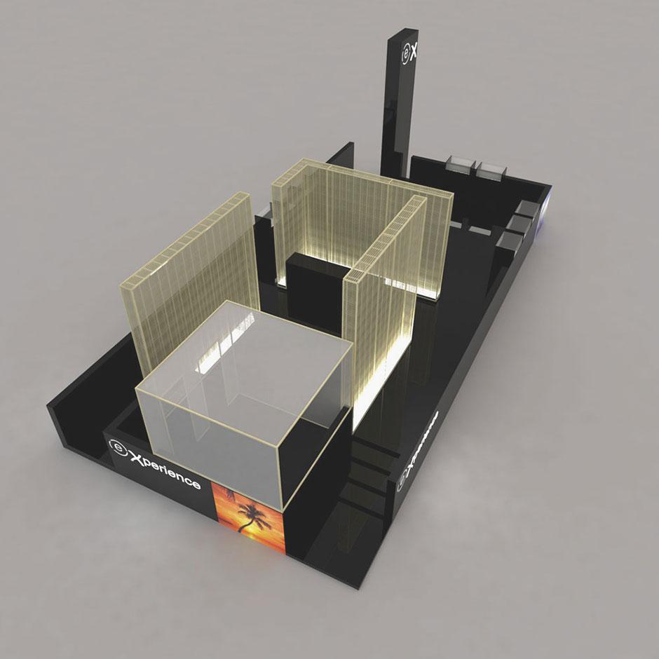 Modello tridimensionale del padiglione