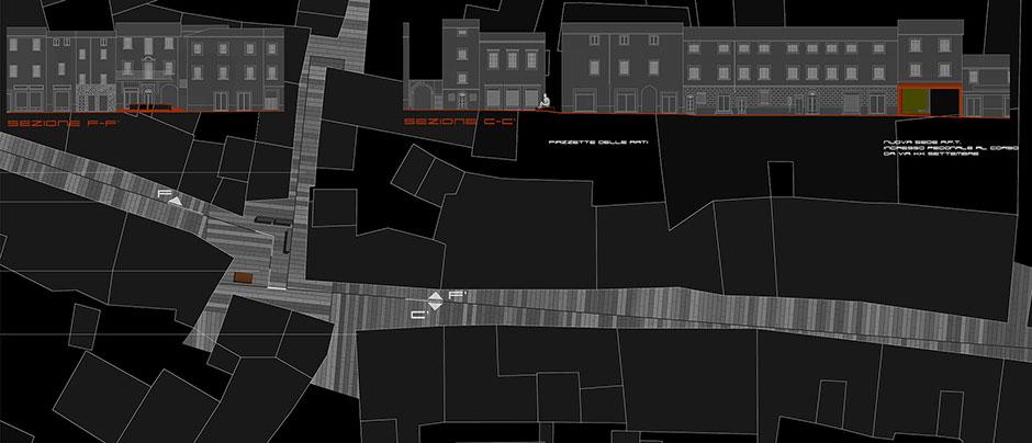 Planimetria del Corso nel primo tratto